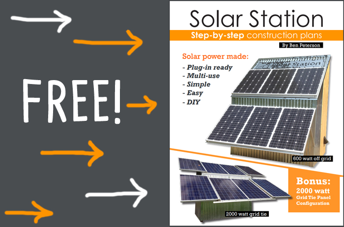 solar station ebook by Ben Peterson with plans mobile shelter that goes on trailer