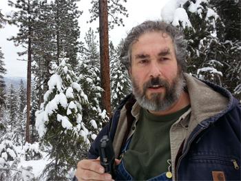 Paul Wheaton in the snow