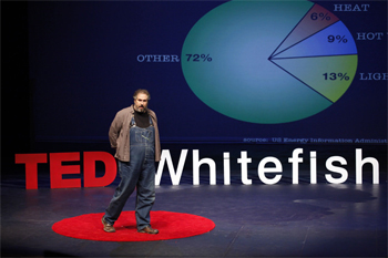 Paul Wheaton Ted talk with pie chart
