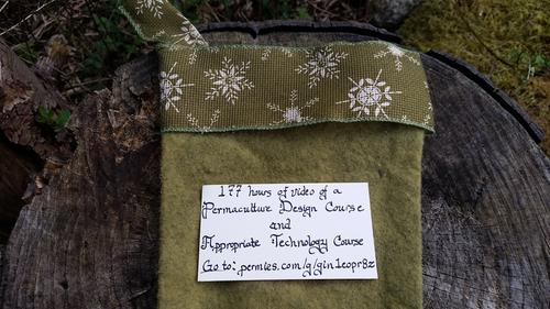 permaculture design course gift code in a stocking