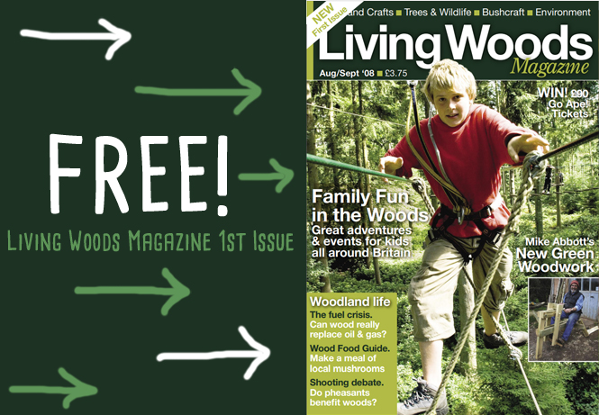 living wood magazine about roundwood and green woodworking and woodland care