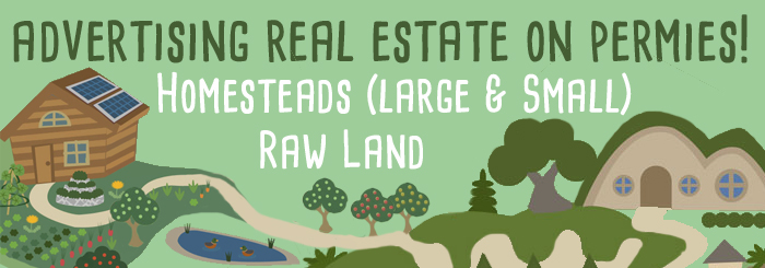 sell homesteads and raw land on permies