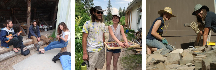 men and women at permaculture design courses PDC