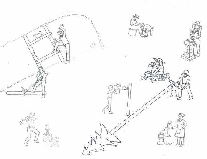 sketch of SKIP badge activities