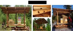bee hive hut at Wheaton labs