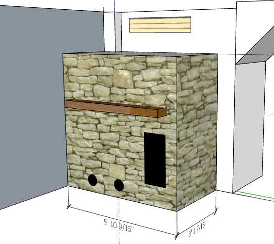 DSR with stone veneer