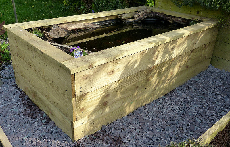 Small pond for a school yard ponds forum at permies for Wooden pond ideas