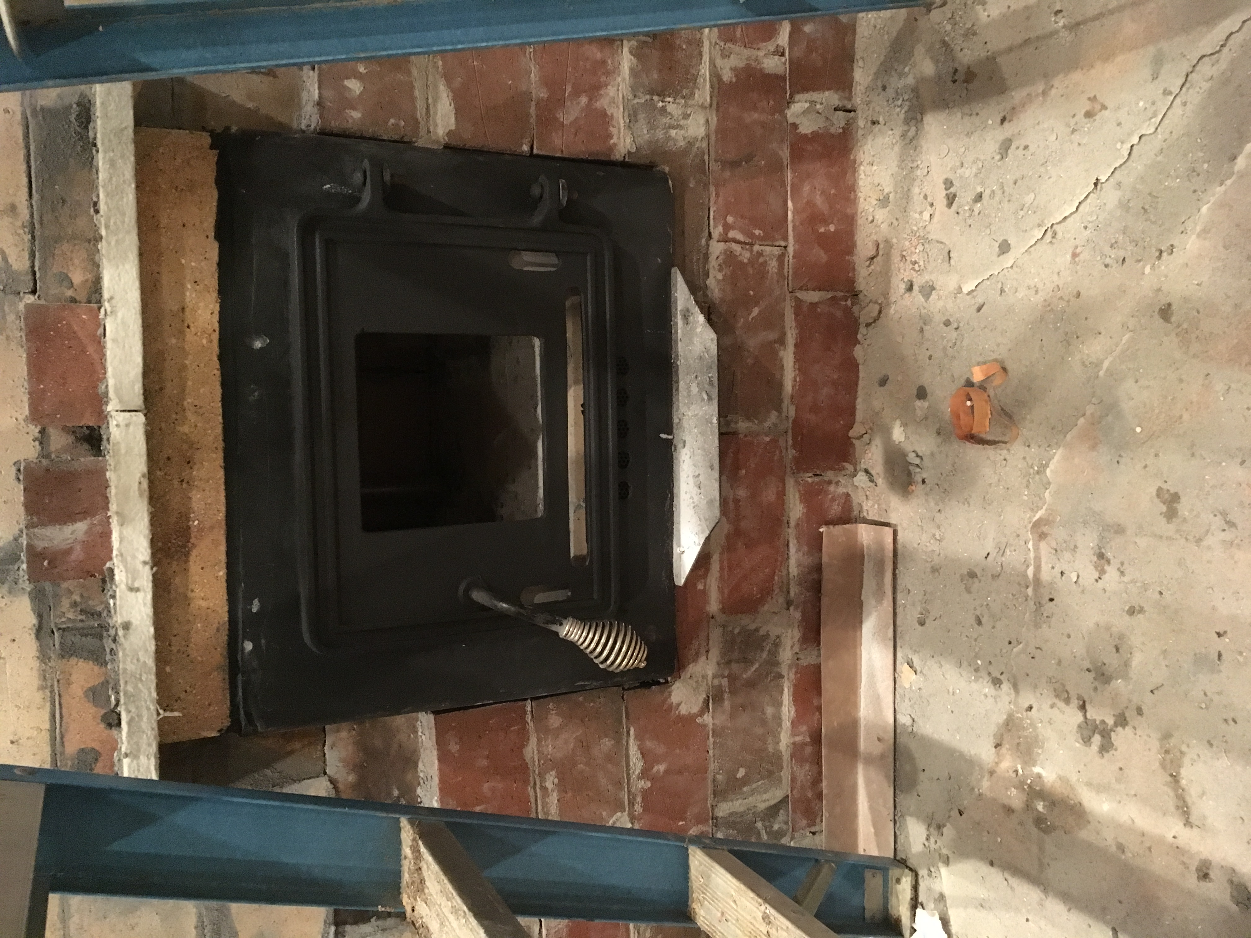 Putting Glass In An Old Cast Iron Wood Stove Door Rocket