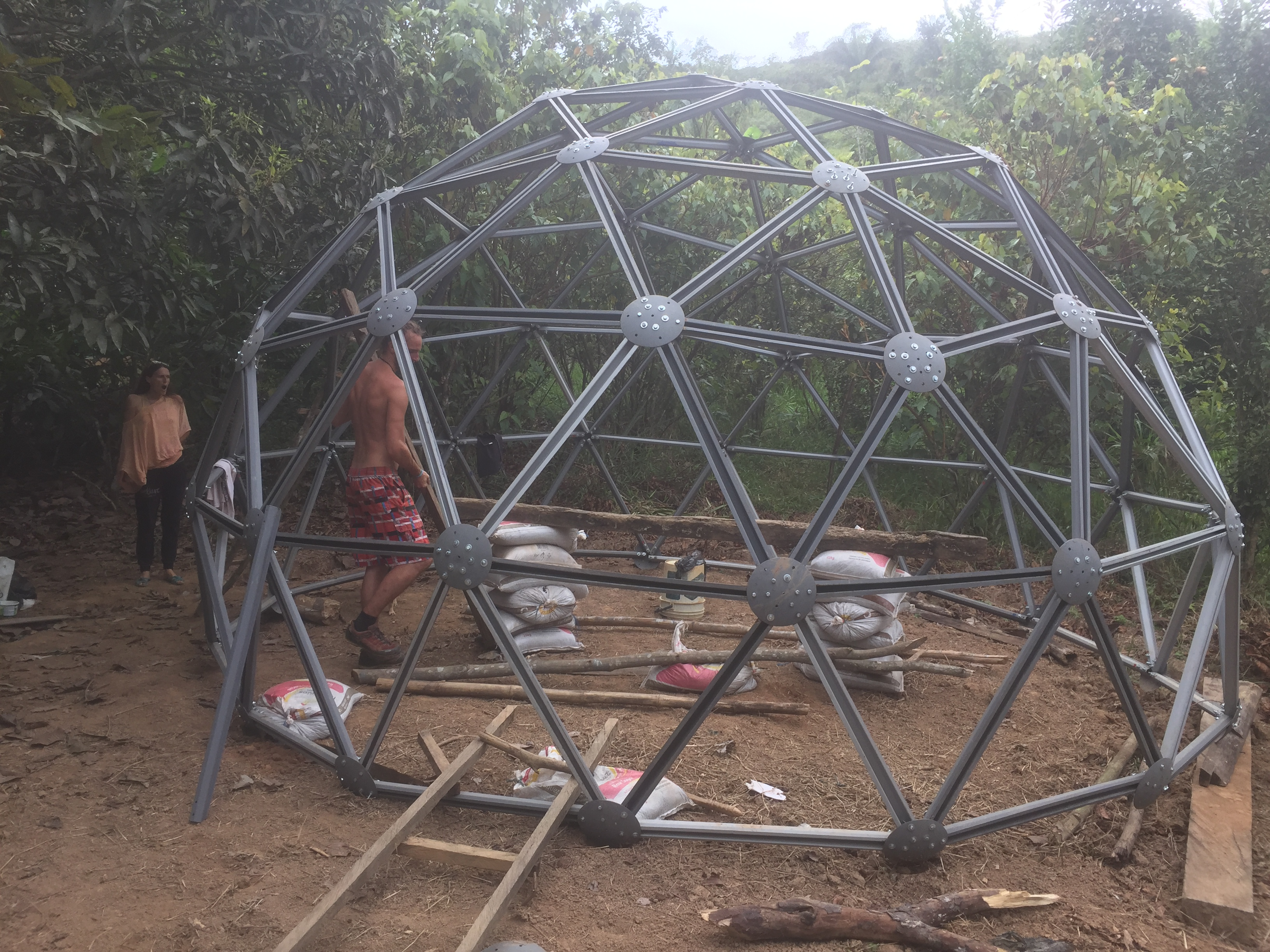 Roofing Material Options For A Geodesic Dome In The Wet
