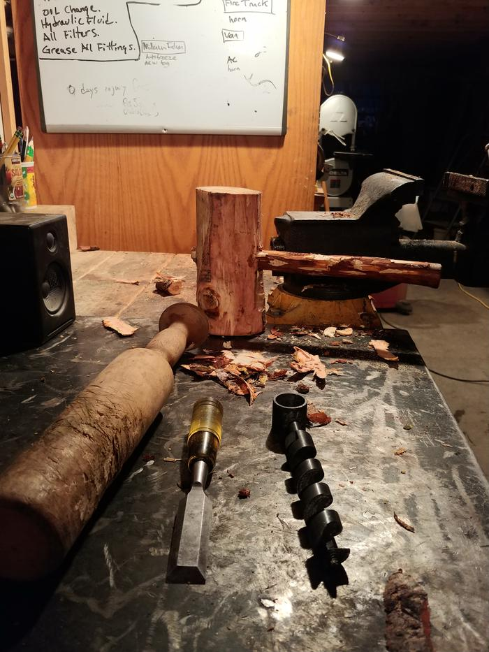 handmade compound mallet