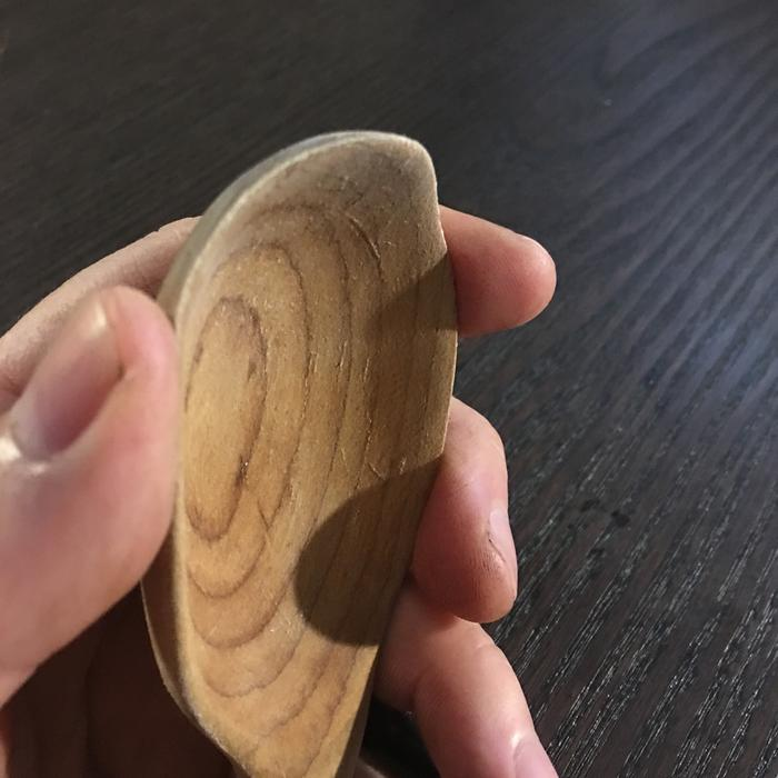 hand carved wooden spoon