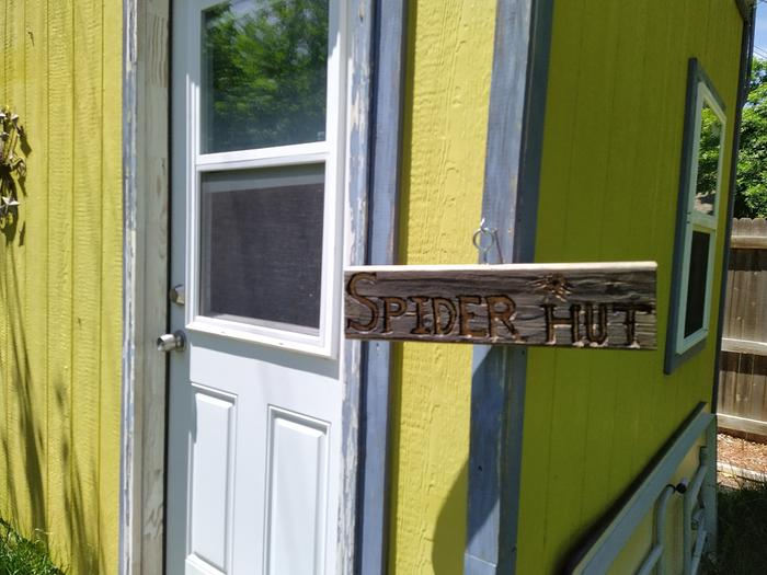 Trust the sign, it really is full of spiders.